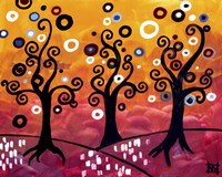 Swirling Trees And Magenta Fine-Art Print