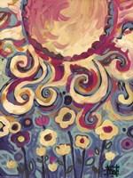Sun And Flower Whimsy Fine-Art Print