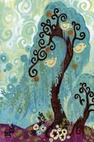 Spritely Blue Willows Fine-Art Print