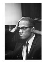 Malcolm X Waits at Martin Luther King Press Conference Fine-Art Print
