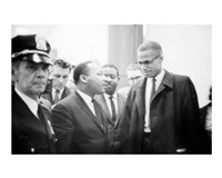 Martin Luther King and Malcolm X Fine-Art Print