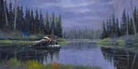 Moose At Fisher Cap Lake Fine-Art Print