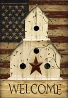 Americana Welcome Birdhouse Fine-Art Print