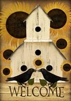 Welcome Fall Bird House Fine-Art Print