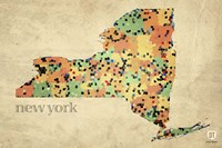 New York County Map Fine-Art Print