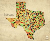 Texas County Map Fine-Art Print