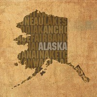 Alaska State Words Fine-Art Print