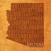 Arizona State Words Fine-Art Print
