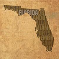 Florida State Words Fine-Art Print