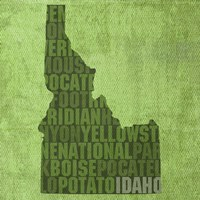 Idaho State Words Fine-Art Print