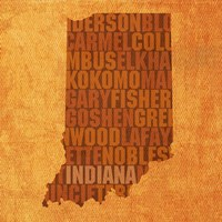 Indiana State Words Fine-Art Print