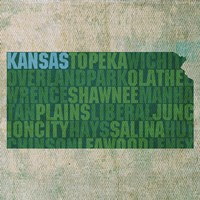 Kansas State Words Fine-Art Print