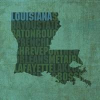Louisiana State Words Fine-Art Print