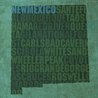 New Mexico State Words Fine-Art Print