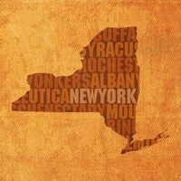 New York State Words Fine-Art Print