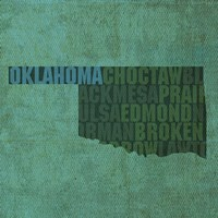 Oklahoma State Words Fine-Art Print