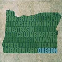Oregon State Words Fine-Art Print