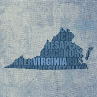 Virginia State Words Fine-Art Print