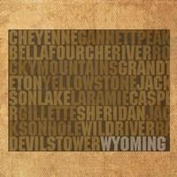 Wyoming State Words Fine-Art Print