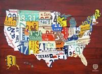 License Plate Map USA I Fine-Art Print