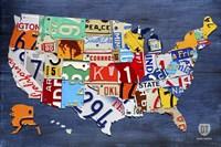 USA Map II Fine-Art Print