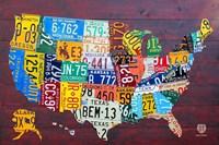 License Plate Map USA IV Fine-Art Print
