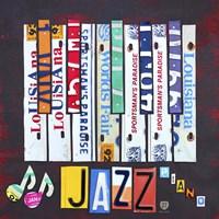 License Plate Art Jazz Series Piano I Fine-Art Print