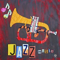 License Plate Art Jazz Series Piano II Fine-Art Print