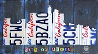 Los Angeles Skyline License Plate Art Fine-Art Print