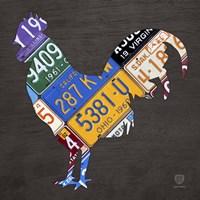License Plate Art Rooster Fine-Art Print