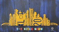 Pittsburgh Skyline License Plate Art Fine-Art Print