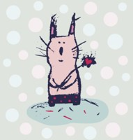 Polka Dot Kitty Fine-Art Print