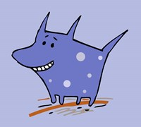 Purple Polka Dot Dog Fine-Art Print