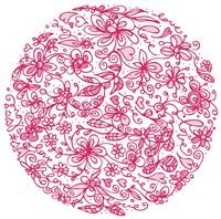 Pink Flower Circle Fine-Art Print