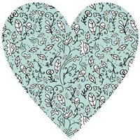 Blue Flower Heart Fine-Art Print