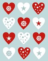 Christmas Hearts Fine-Art Print