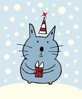 Christmas Snow Cat Fine-Art Print