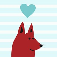 Happy Red Dog Love Fine-Art Print