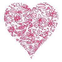 Pink Flower Love Heart Fine-Art Print