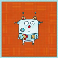 Little Robot Boy Fine-Art Print