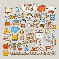 Robot Kids Fine-Art Print