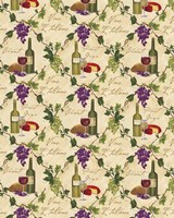Wine Pattern I Fine-Art Print