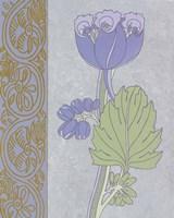 Blue Tulip With Left Border Fine-Art Print