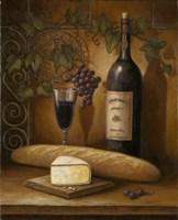 Wine And Cheese B Fine-Art Print