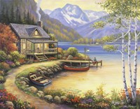 Fishing At The Lake Fine-Art Print