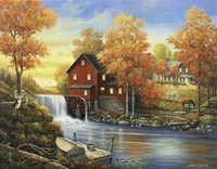 Autumn Sunset At The Old Mill Fine-Art Print