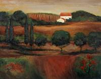 Crimson Light In Tuscany Fine-Art Print