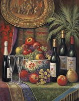 Wine And Floral I Fine-Art Print