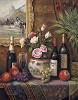 Wine And Floral III Fine-Art Print