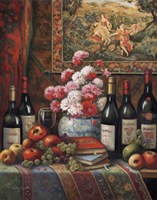 Wine And Floral IV Fine-Art Print